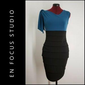 Enfocus Studio Woman Layer Dress Size 8 Black